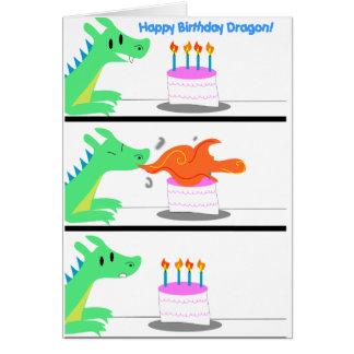 Carte d'anniversaire de dragon drôle !