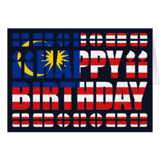 Carte d'anniversaire de drapeau de la Malaisie