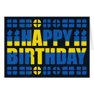 Carte d'anniversaire de drapeau de la Suède