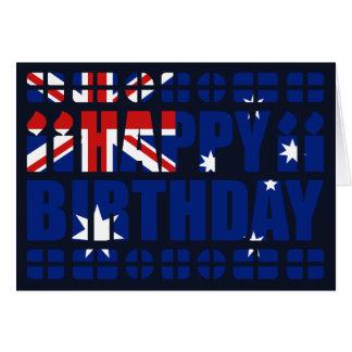 Carte d'anniversaire de drapeau de l'Australie