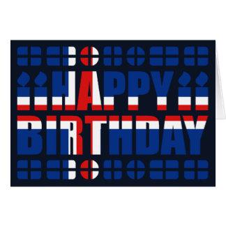 Carte d'anniversaire de drapeau de l'Islande