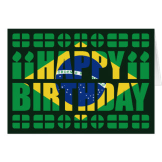 Carte d'anniversaire de drapeau du Brésil