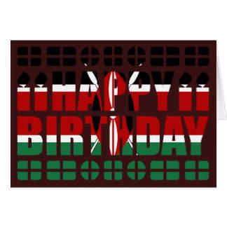 Carte d'anniversaire de drapeau du Kenya