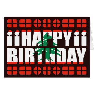 Carte d'anniversaire de drapeau du Liban