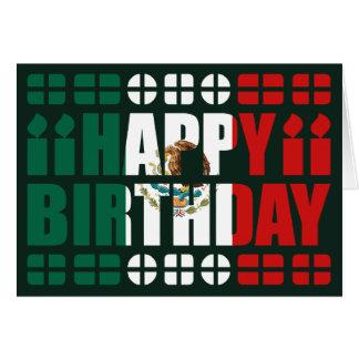Carte d'anniversaire de drapeau du Mexique