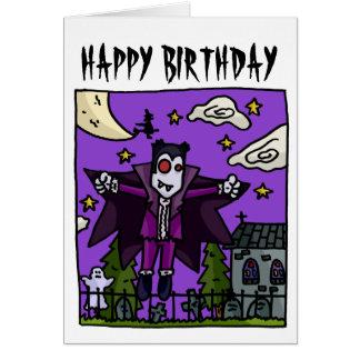 Carte d'anniversaire de enfant de vampire