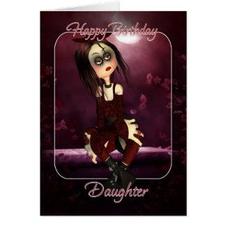 Carte d'anniversaire de fille - poupée de chiffon
