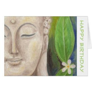 Carte d'anniversaire de fleur de Bouddha