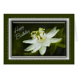 Carte d'anniversaire de fleur de passion