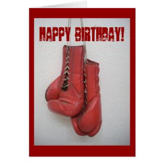 Carte d'anniversaire de gants de boxe