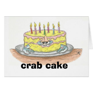 Carte d'anniversaire de gâteau de CRABE
