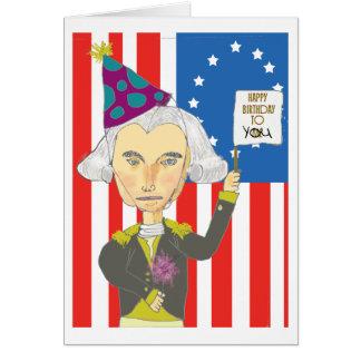 Carte d'anniversaire de George Washington