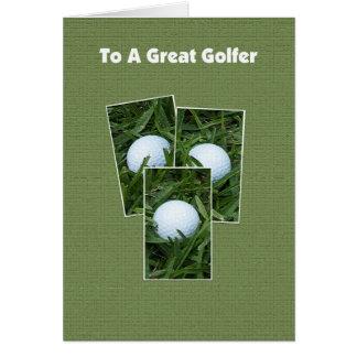Carte d'anniversaire de golf -- Boules de golf