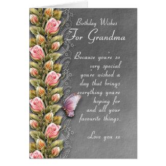 carte d'anniversaire de grand-maman - carte