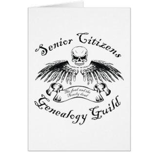 Carte d'anniversaire de guilde de généalogie de