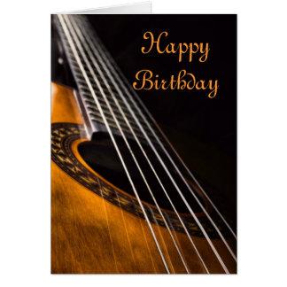 Carte d'anniversaire de guitare