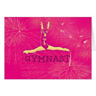 Carte d'anniversaire de gymnaste