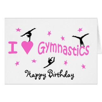 Carte d'anniversaire de gymnastique