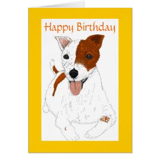 Carte d'anniversaire de Jack Russell Terrier