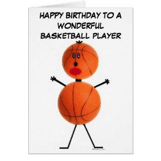 Carte d'anniversaire de joueur de basket