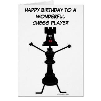 Carte d'anniversaire de joueur d'échecs