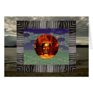 Carte d'anniversaire de la carte   Bouddha