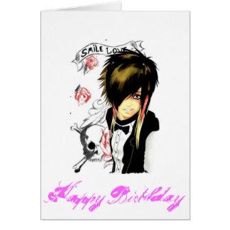 carte d'anniversaire de la fille