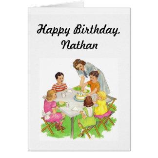 Carte d'anniversaire de l'enfant
