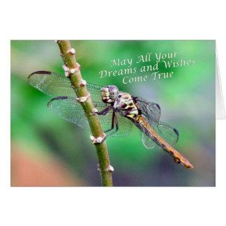 Carte d'anniversaire de libellule (7178)