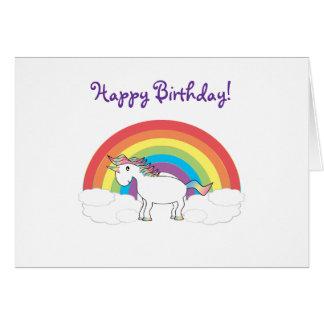 Carte d'anniversaire de licorne