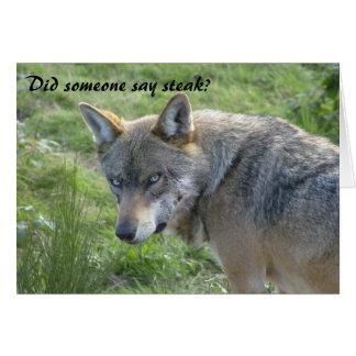 Carte d'anniversaire de loup