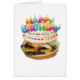 Carte d'anniversaire de luxe d'hamburger