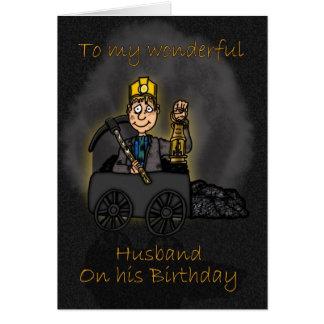 Carte d'anniversaire de mari - bande dessinée du