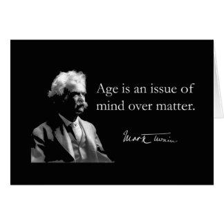 Carte d'anniversaire de Mark Twain