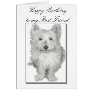 Carte d'anniversaire de meilleurs amis