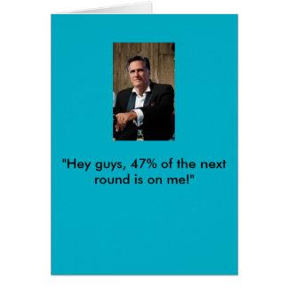 Carte d'anniversaire de Mitt Romney