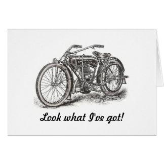 Carte d'anniversaire de moto