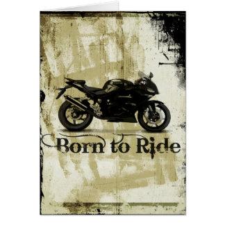 Carte d'anniversaire de moto de sport de vélo de