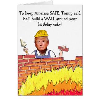 Carte d'anniversaire de mur d'atout