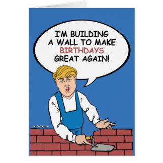 Carte d'anniversaire de mur d'atout - construisez