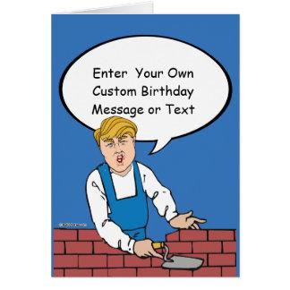Carte d'anniversaire de mur d'atout - customisez