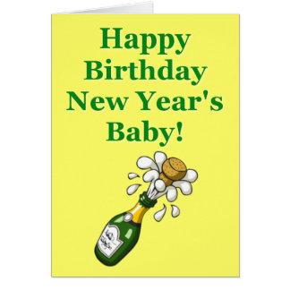 Carte d'anniversaire de nouvelle année