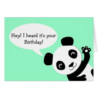 Carte d'anniversaire de ondulation de panda