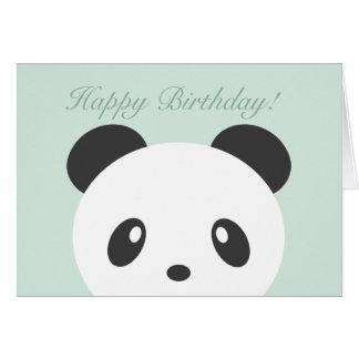 Carte d'anniversaire de panda