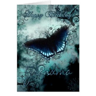Carte d'anniversaire de papillon de grand-maman -