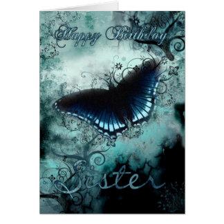 Carte d'anniversaire de papillon de soeur - Bi
