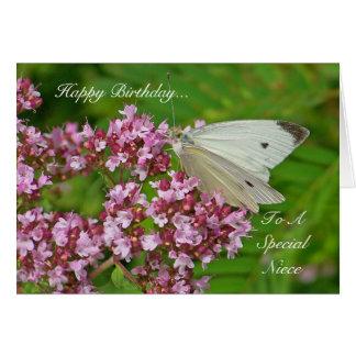 Carte d'anniversaire de papillon pour une nièce