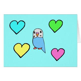 Carte d'anniversaire de perruche