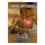 Carte d'anniversaire de petit-fils avec le cyborg