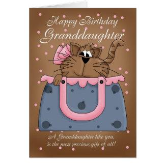 Carte d'anniversaire de petite-fille - animal